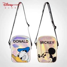 Disney cartoon Cute laser bagMickey Mouse Donald Duck Shoulder bag women Messenger Bag Laser Bag lady coin Phone bag