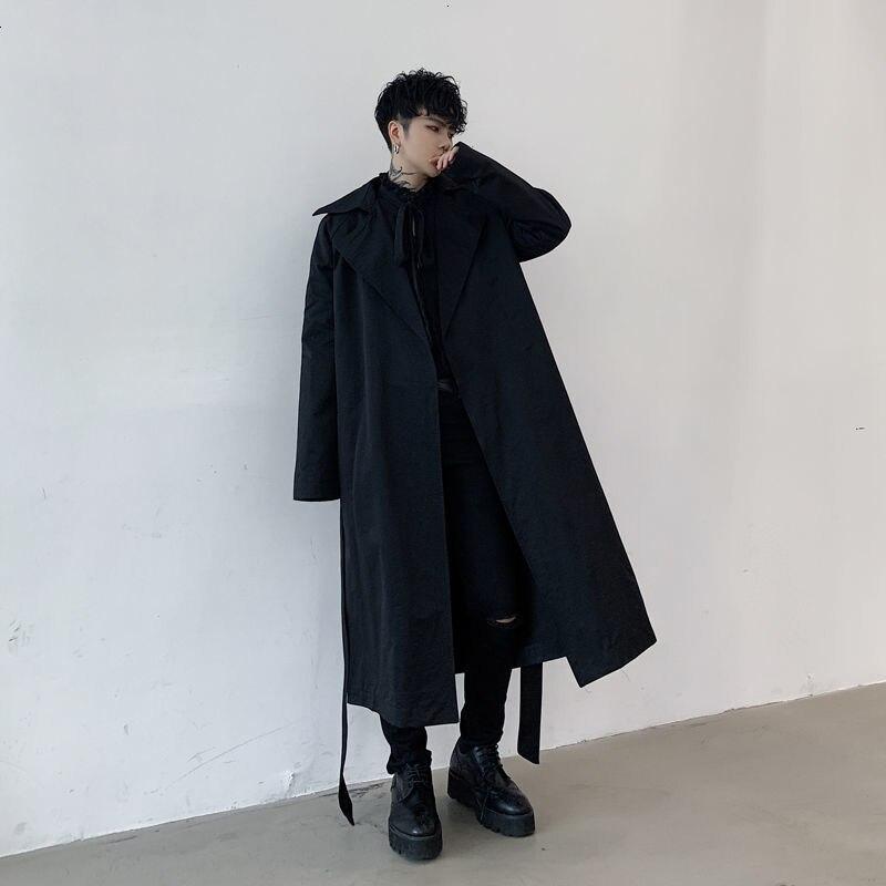 جديد خريف وشتاء 2020 من Hybskr معاطف رجالي فضفاضة غير رسمية واقية معاطف نسائية كبيرة الحجم بأكمام طويلة جاكيتات كلاسيكية ملابس رجالي