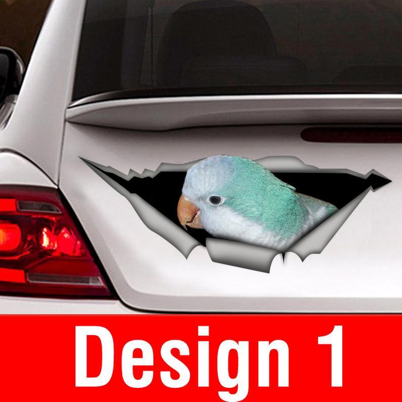 Голубая наклейка, автомобильная наклейка, синяя фотография