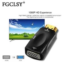Fgclsy Man-vrouw Hdmi Naar Vga Adapter Hd 1080P Audio Kabel Converter Voor Pc Laptop Tv Box Computer display Projector