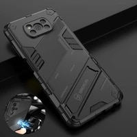 for xiaomi poco x3 pro case bracket rugged armor magnetic car holder protection cover for mi pocophone x3 nfc pocox3 gt cases