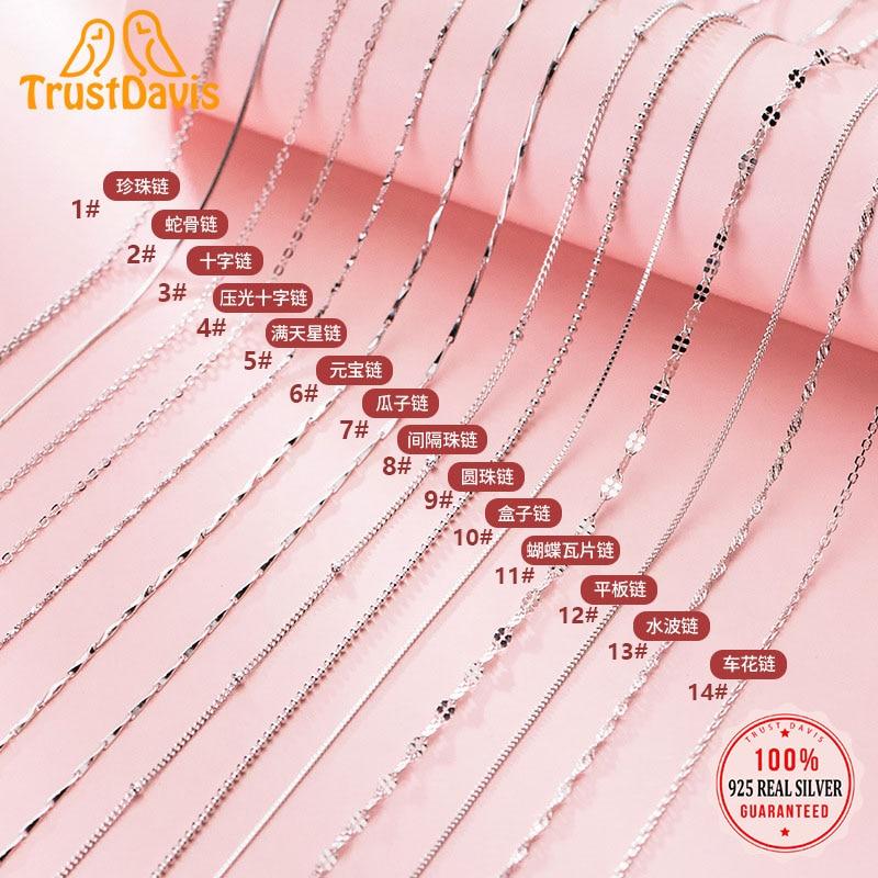 trustdavis-Настоящее-серебро-925-пробы-модная-коробка-цепочка-серьги-линия-полу-готовые-изделия-ручная-работа-diy-аксессуары-dz88