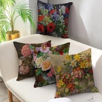 fuwatacchi cushion cover rose flower pattern pillow cover for home chair sofa decorative pillows oil painting flowers pillows