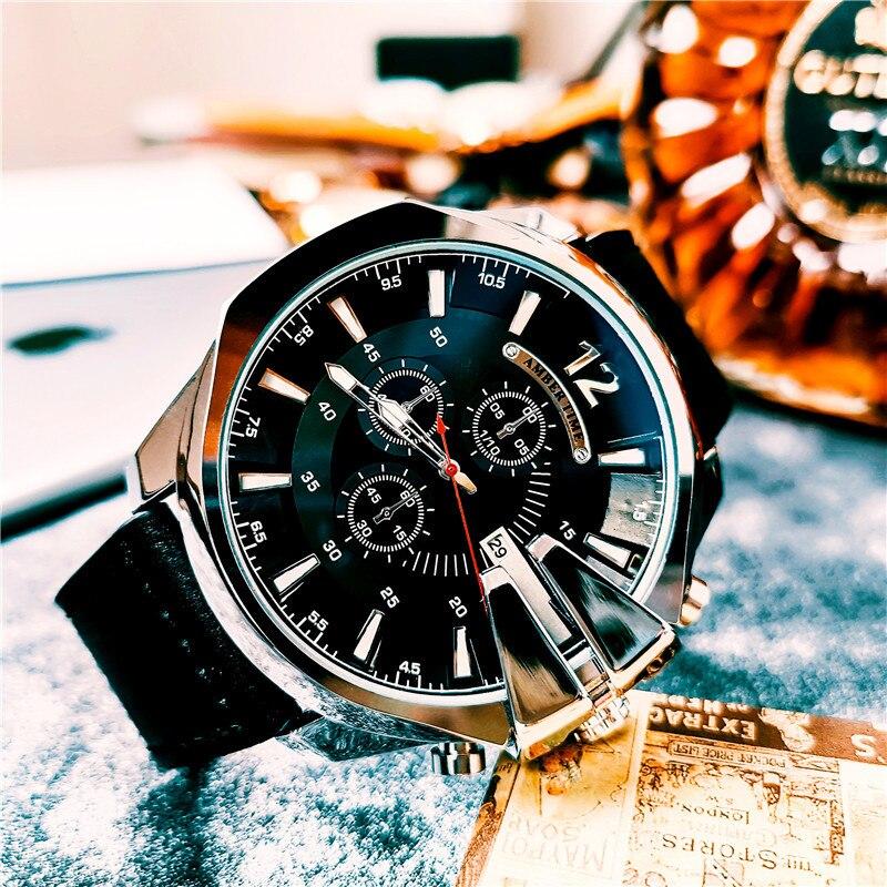 Relógio de Quartzo Calendário à Prova Fivela de Negócios Âmbar Venda Azul Lente Ouro Topo Luxo Dwaterproof Água Relógio Masculino Automático Pino Luz