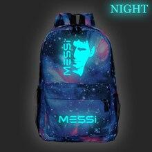 Messi Backpack Backpack Luminous Bag Travel Bag Knapsack Laptop Backpack School Bag College Backpack