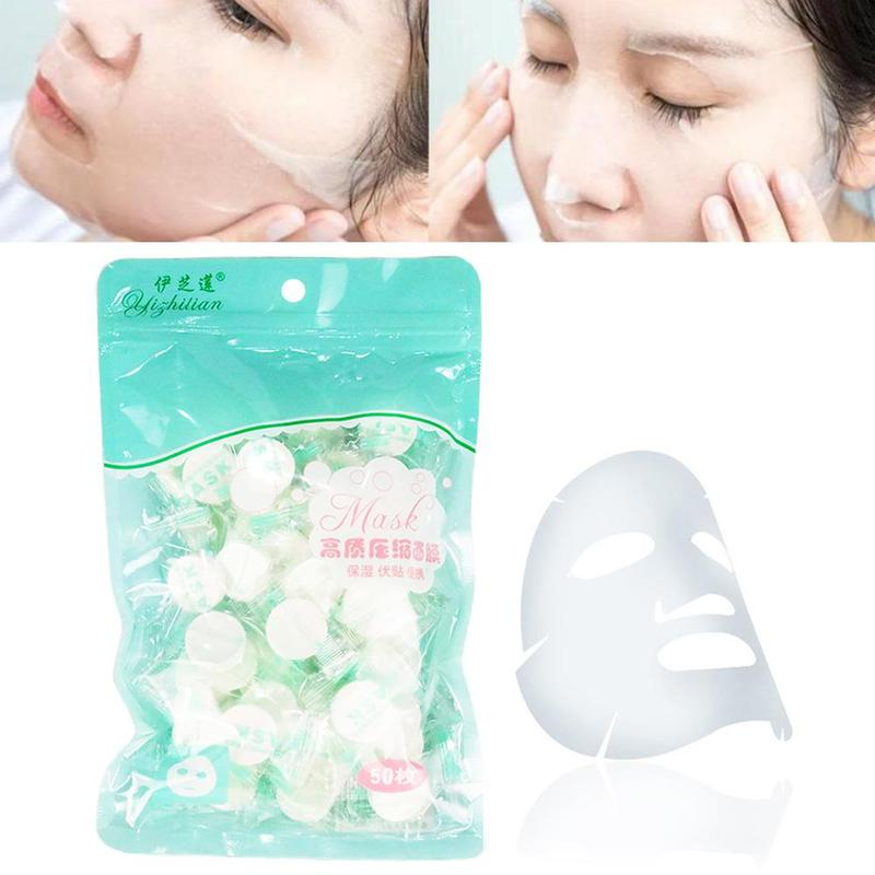 50pcs Travel Compressed Face Mask Disposable Women Paper Tool Up Masks Natural Beauty Masks Diy Wrap