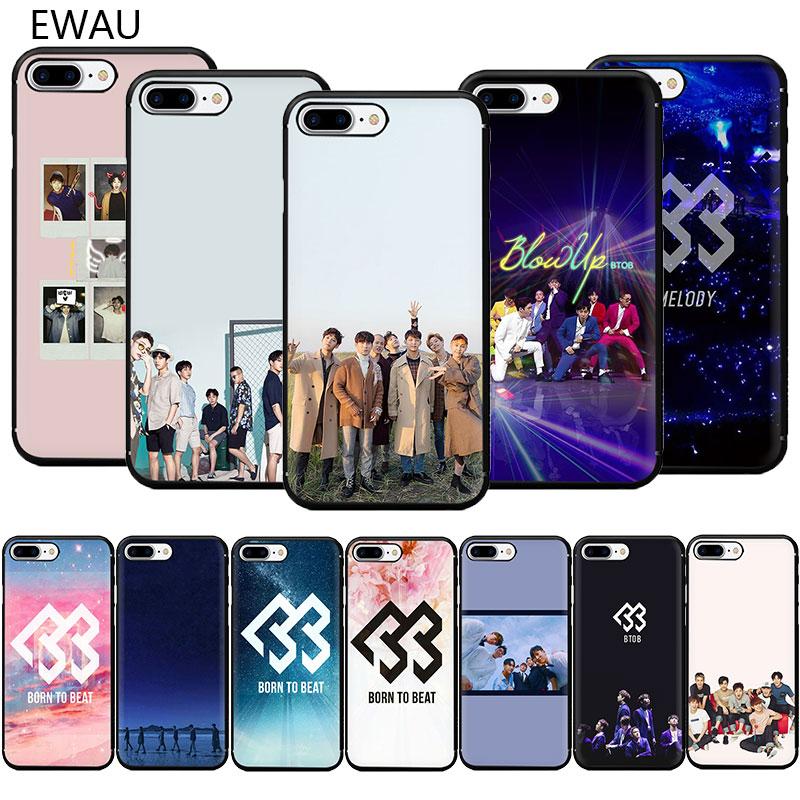 Ewau btob k banda pop macio tpu caso de telefone para o iphone se 2020 11 pro 5 5S 6s 7 8 plus x xr xs max