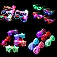 12pcs glow glasses rave glow party sunglasses led neon blinds glasses decoration party for wedding carnival festival accessories