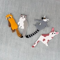 cute animal adhesive wall hooks reusable waterproof removable key hook for home kitchen bathroom family decorative