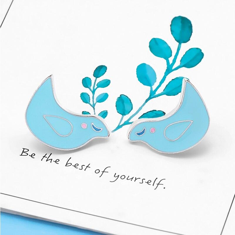 Paloma de La Paz paloma azul pájaro esmalte alfileres animales broches mochilas camisa Botón de chaqueta Pin insignia regalos para niños joyería de dibujos animados