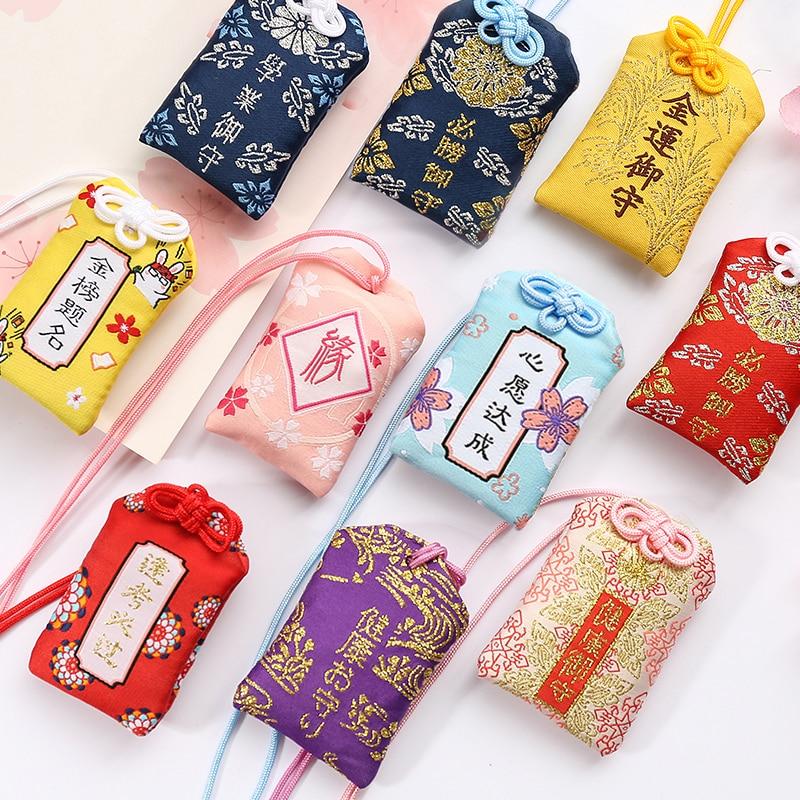 Брелоки для рюкзаков Omamori молитвенные, благосостояние, безопасная, прозрачная сумка для богатства, талисман подвеска двойной подарок