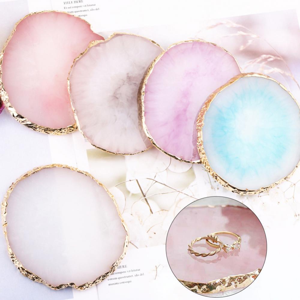 Смолы-ювелирные-изделия-ожерелье-кольцо-серьги-Дисплей-пластина-держатель-лотка-блюдо-Органайзер