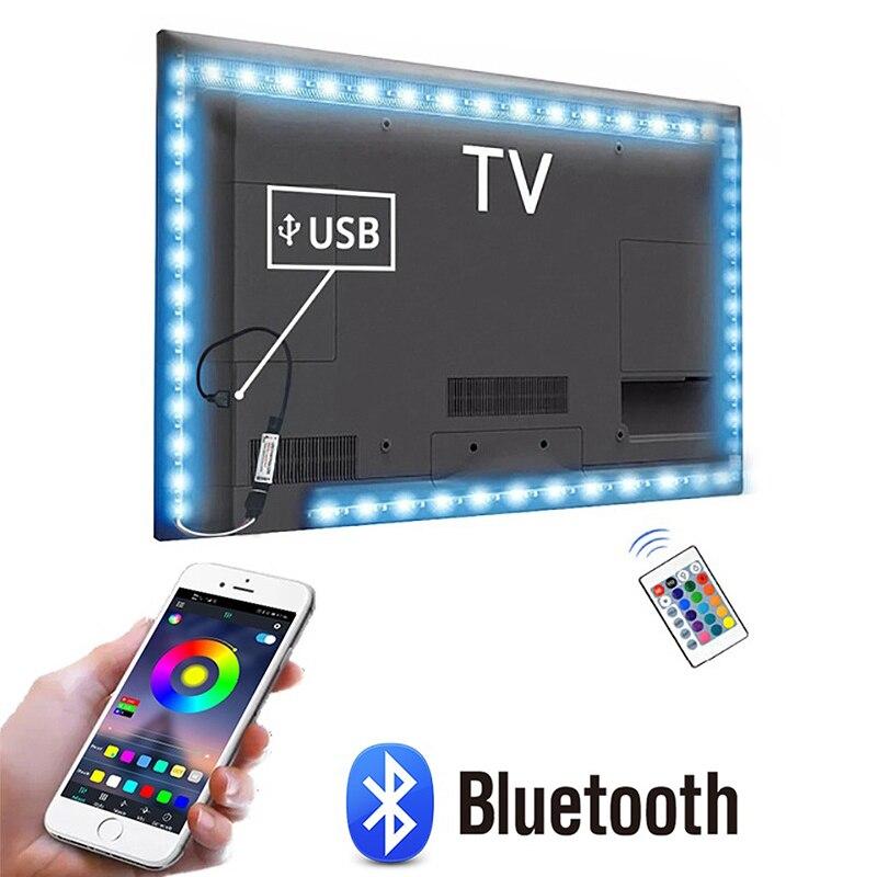 1m 2m 3m 4m 5m 5v bluetooth usb tv led luz neon rgb backlight inteligente levou luz