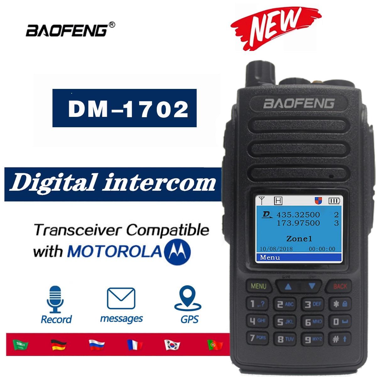 2021 Baofeng DM1701//DM-1702 GPS Walkie Talkie Dual Time Slot DMR Digital/Analog DMR Repeater Upgrade of DM-1801 DM-1701 Radio