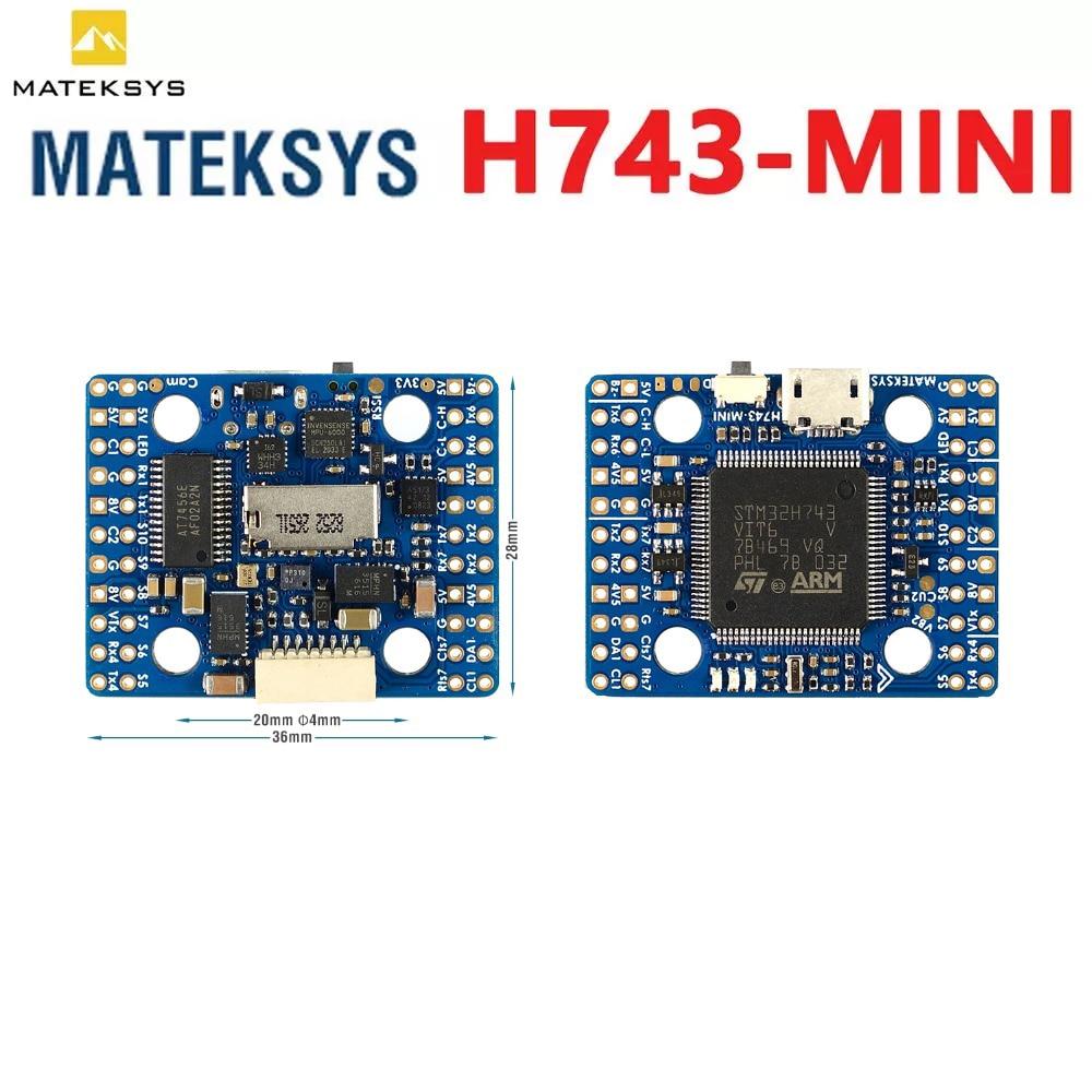 20x20mm Matek H743-MINI H743 Flight Controller STM32H743VIT6 ICM20602 Built-in OSD DPS310 PDB for RC FPV Racing Drone Parts