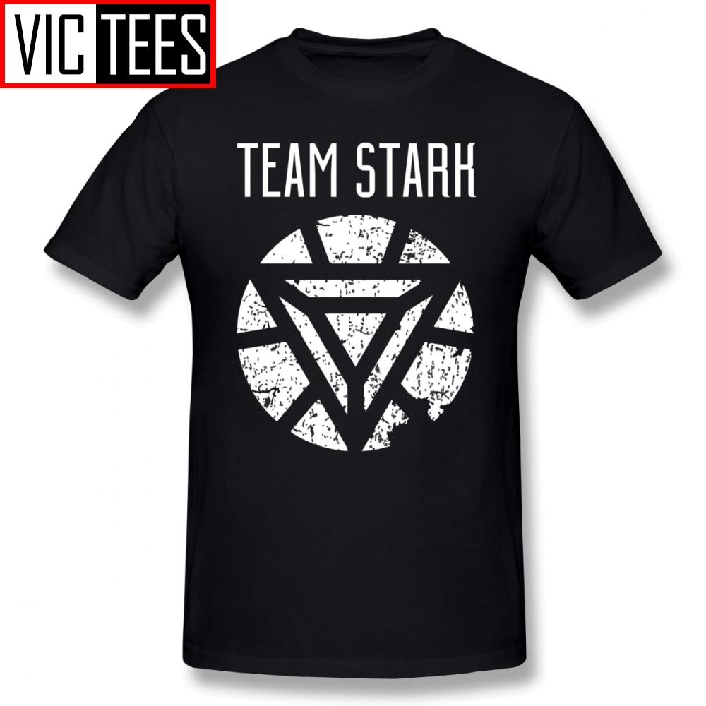 Camisetas de Robert Downey Jr para hombre, camiseta del equipo Stark Civil War, camiseta impresa, camiseta Streetwear, camisa divertida
