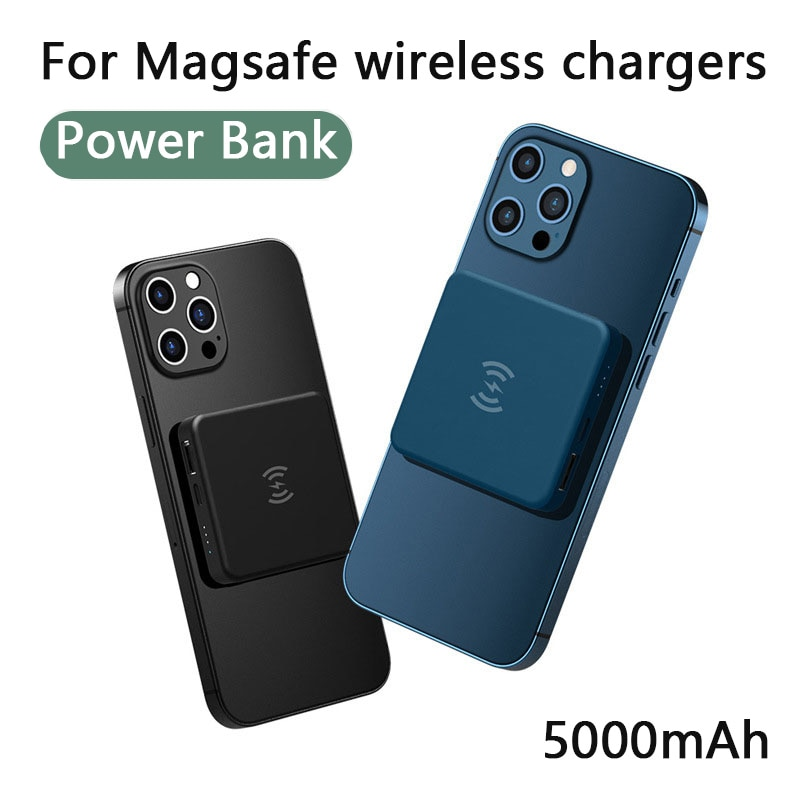 Magnetic Wireless Power Bank For Magsafe Chargers PowerBank For iPhone 12 Pro Max 12Mini 5000mAh External Battery Fast Charging