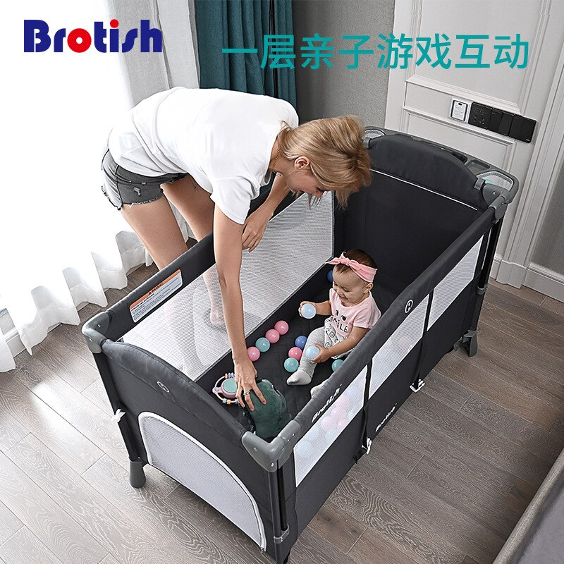 European Folding Baby Crib  Large Bed Multi-functional Portable Newborn Baby Cradle Cot Play Game Bed Bassinet Baby Beds enlarge