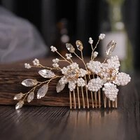 bridal hair headdress rhinestone pearl combs jewelry woman hair accessories for girl wedding accessories hair combs headdress
