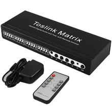 Toslink Matrix 4x4 commutateur commutateur séparateur SPDIF /TOSLINK numérique optique Audio 4x4True matrice commutateur sélecteur télécommande