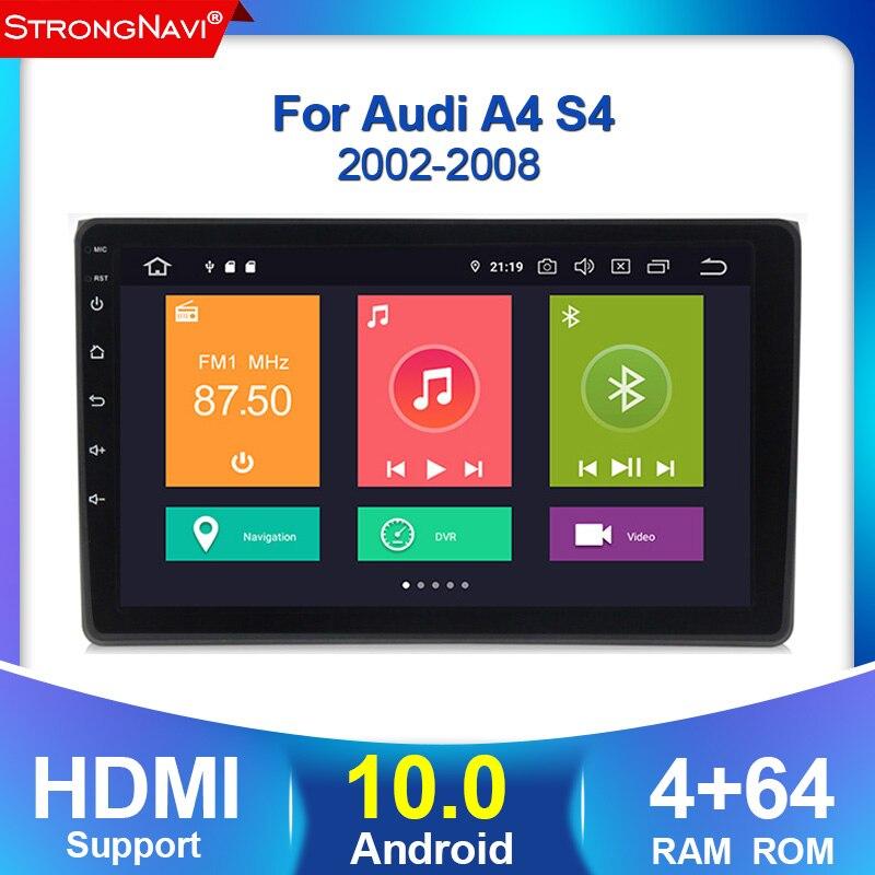 4G lte DSP IPS Android 10.0 4G 64G CAR GPS For Audi A4 B6 B7 S4 B7 B6 RS4 B7 seat exeo dvd player radio WIFI BT built-in CARPLAY