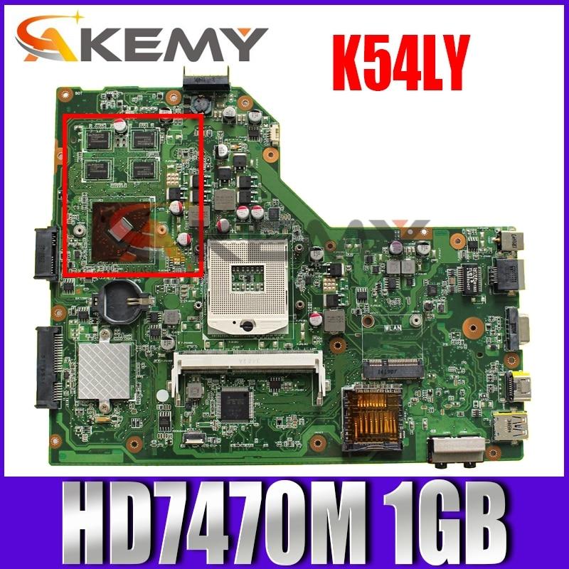 K54LY HD7470M 1GB اللوحة REV2.1 ل ASUS K54H X54HR K54LY K54HR اللوحة المحمول HM55 DDR3 PGA989 60-N9EMB1000-A14 اختبار