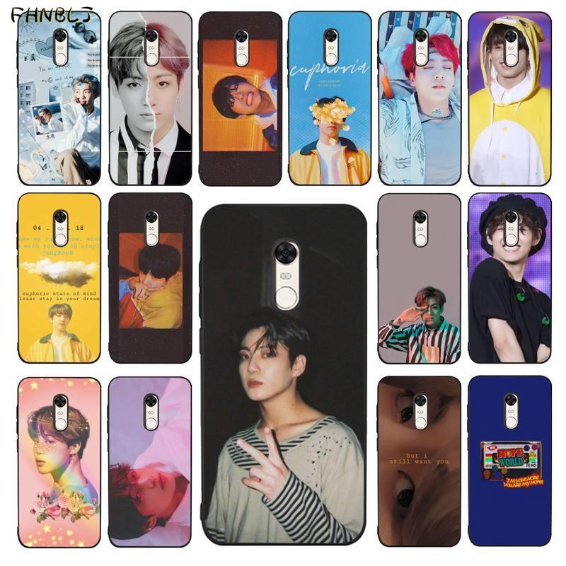 FHNBLJ KPOP Jin SUGA j-hope RM Jimin V  Soft Silicone TPU Phone Cover for RedMi 5 5plus 6 6pro 6a s2 4x 7 7a 8 case