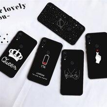Pour Xiaomi mi8 9 a2 lite 7 7a 6A motif couverture sur Redmi Note 8 pro 9t a3 A1 Pocophone F1 A1 souple coque de téléphone noir ciel étoilé