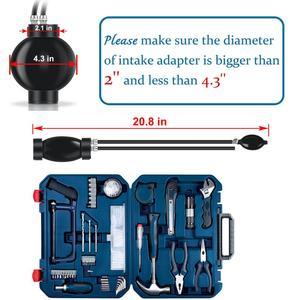 Image 4 - Универсальные автомобильные инструменты, адаптер для быстрого запечатывания выхлопных газов для автомобилей, автомобильный детектор утечки дыма, диагностические инструменты