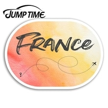 Jump Time for France Vinyl Stickers French EU Travel Sticker Laptop Luggage Car Bumper Decal Waterpr