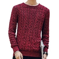 men trend knitted jacquard sweater autumn winter fashion mens sweaters warm thick slim fit men pullover cotton