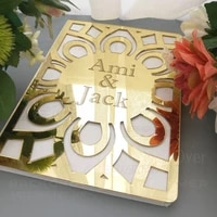 guest book wedding personalized custom mirror guestbook party white names date engrave carve gifts details rustic g008