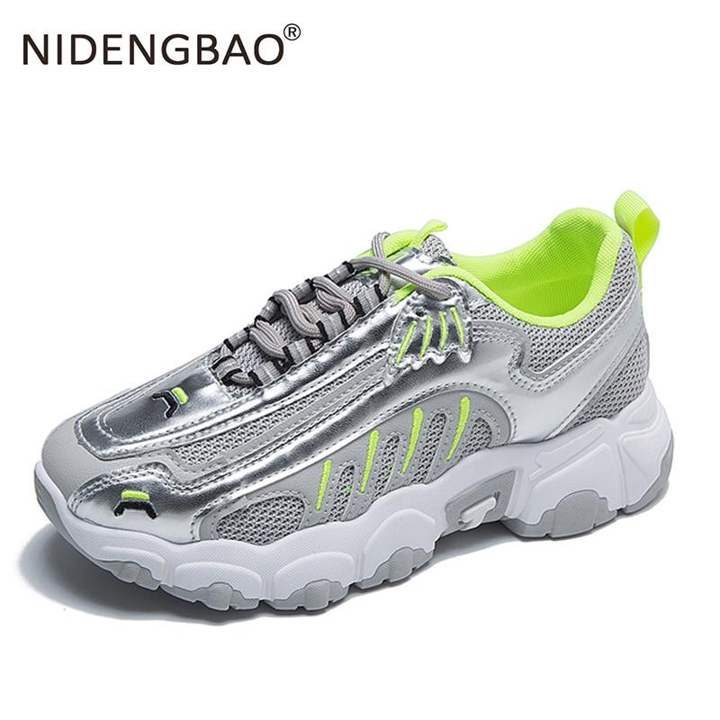 Женские кроссовки для бега на платформе, дышащие мягкие кроссовки, модная спортивная обувь, классические женские кроссовки, спортивная обу...