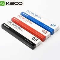 10pcs blueblackredcolorful ink for xiaomi pen kaco 0 5mm signing pen for school office smooth writing durable signing refill
