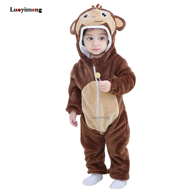 Vêtements pour bébés   Barboteuse de dessin animé pour garçons et filles, combinaison pour garçons et filles, vêtements à capuche pour tout-petits, Costumes en forme de canard mignon