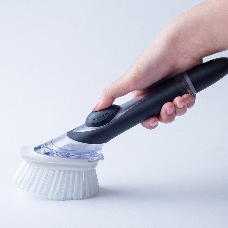 Cepillo de limpieza de mano-Manejar lavar los platos cepillo olla puede limpieza cepillo utensilios de cocina multifunción