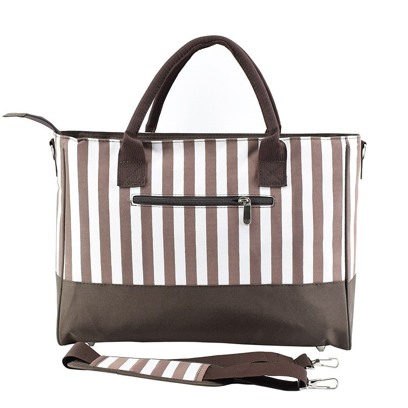 2021 Striped Mummy Baby Diaper Bags Stroller Handbags For Moms Maternity Changing Nappy Bag Organizer