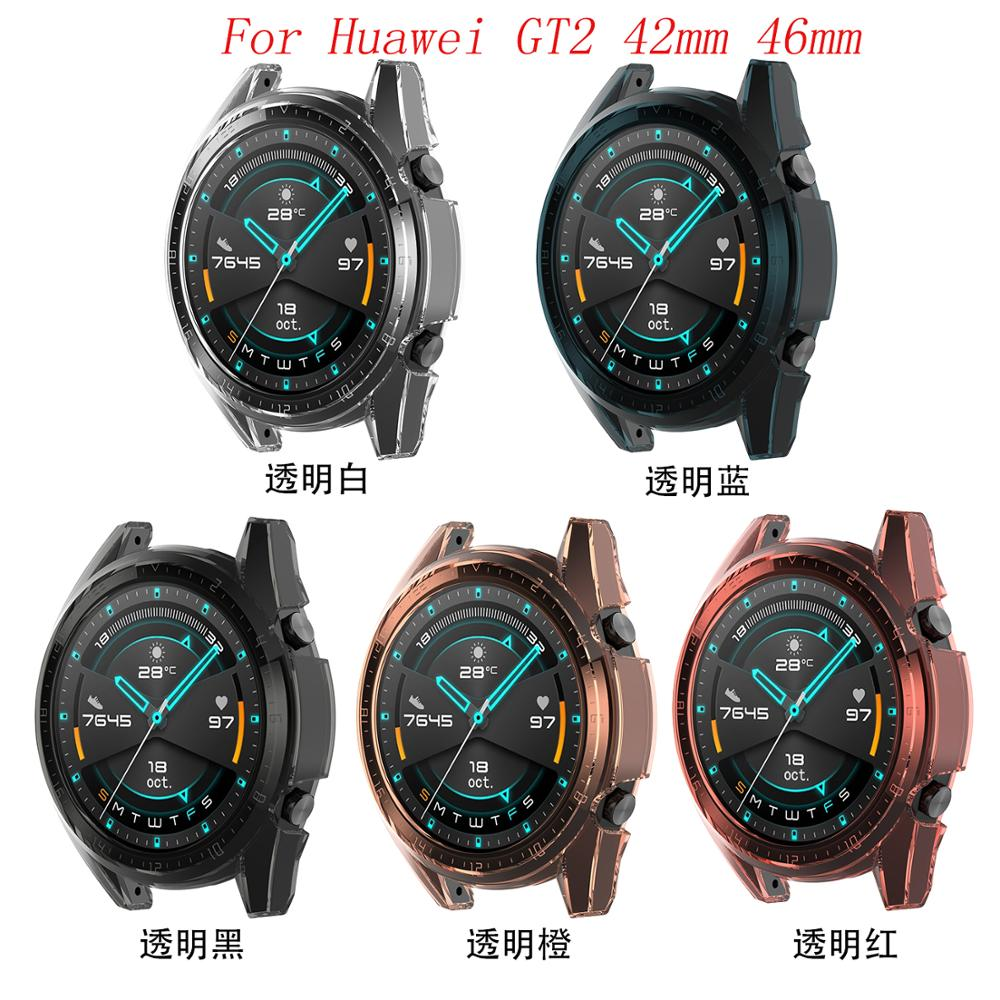 Tpu Schutzhülle Abdeckung Shell für Huawei GT2 42mm 46mm Smart uhr zubehör GT 2 Shell Protector