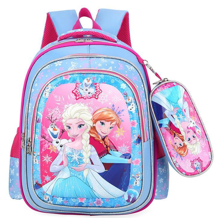 ¡Novedad de 2020! Mochila escolar de dibujos animados de Disney para niñas de primaria, bolsa de viaje 3D para niñas, bolsa de viaje para niñas, elsa congelada