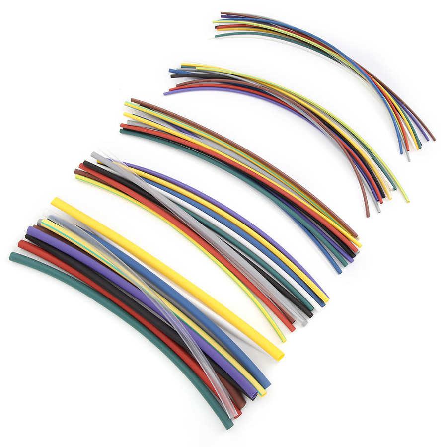 55 pièces thermorétractable Kit de tubes thermorétractable Tube fil câble enroulé manches rétractable Tube rétractable