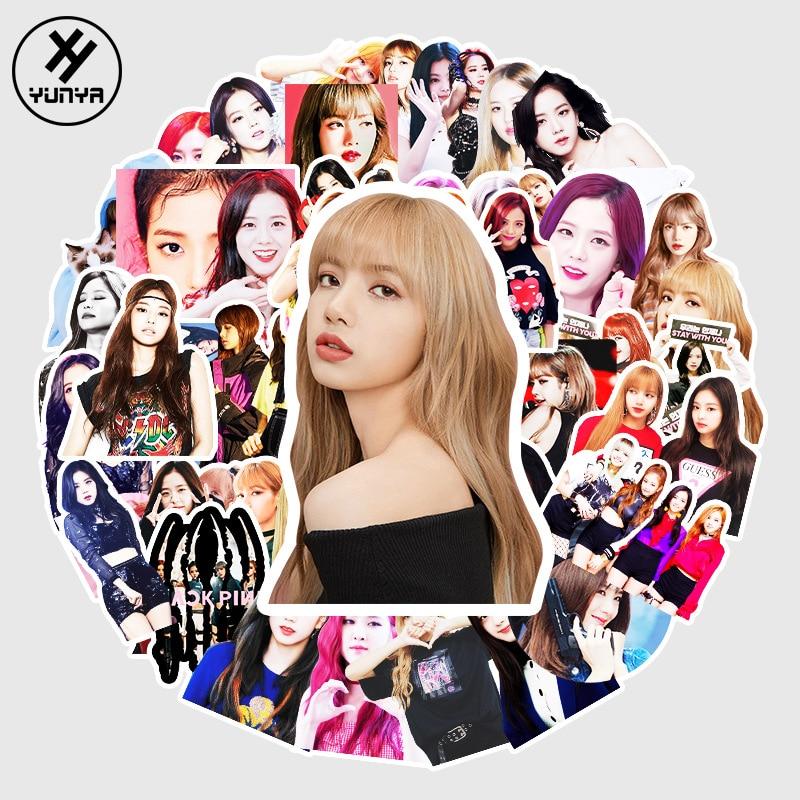 pegatinas-kpop-coreano-star-jisoo-jennie-rose-lisa-para-mujer-pegatinas-negras-y-rosas-para-ordenador-portatil-monopatin-equipaje-pegatina-de-graffiti-30-52-50-uds