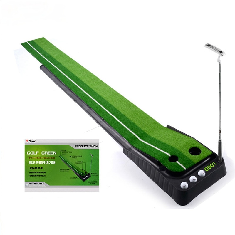 Golf Putting Trainer 2.5M 3M Automatic Return Track Indoor Golf Trainer  with Golf Ball Line Marker
