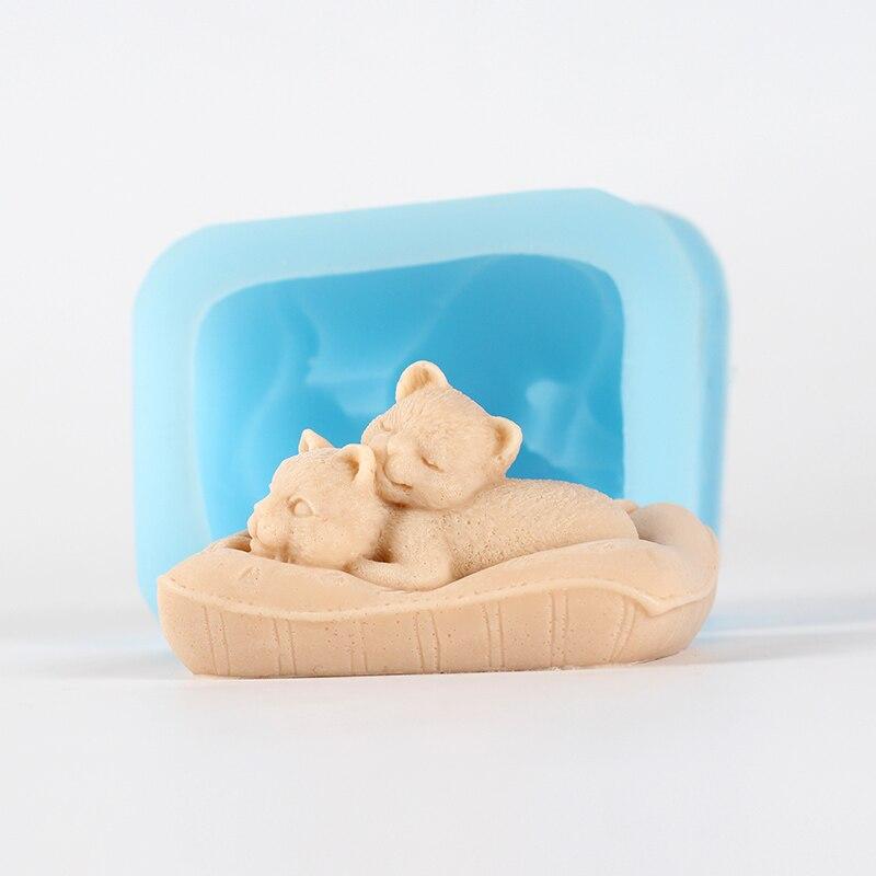 3D Animais Moldes de Sabão Handmade Presente de Aniversário Artesanato Ferramenta