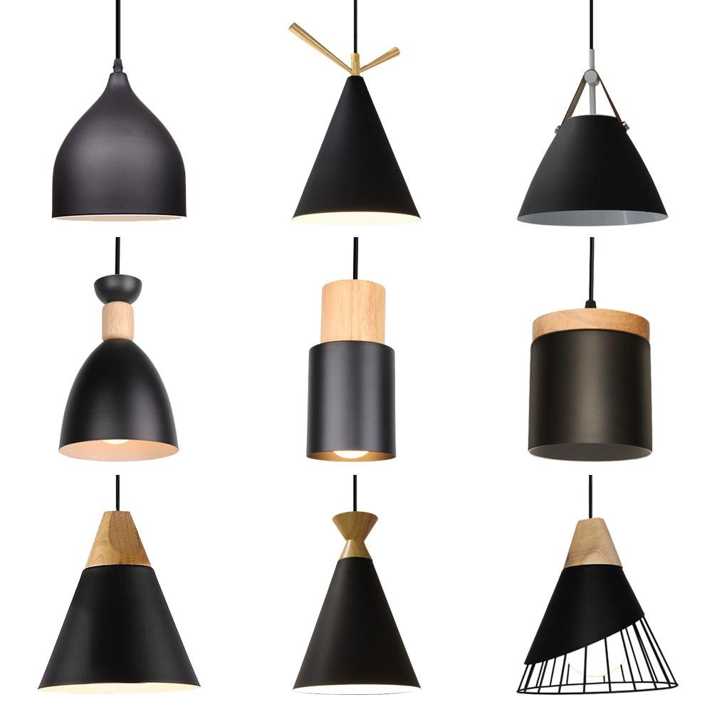 الشمال الصناعية LED E27 الخشب قلادة مصباح macarالحديثة معكرون معلقة ضوء الإضاءة غرفة المعيشة ديكور المنزل المطبخ تركيبات
