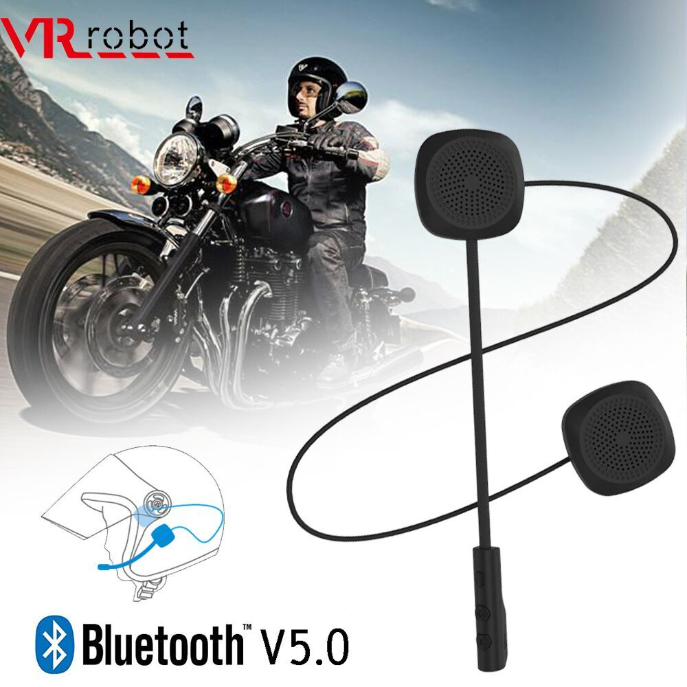 VR robot Bluetooth 5.0 Moto Helmet Headset Wireless Handsfree Stereo Earphone Motorcycle Helmet Head