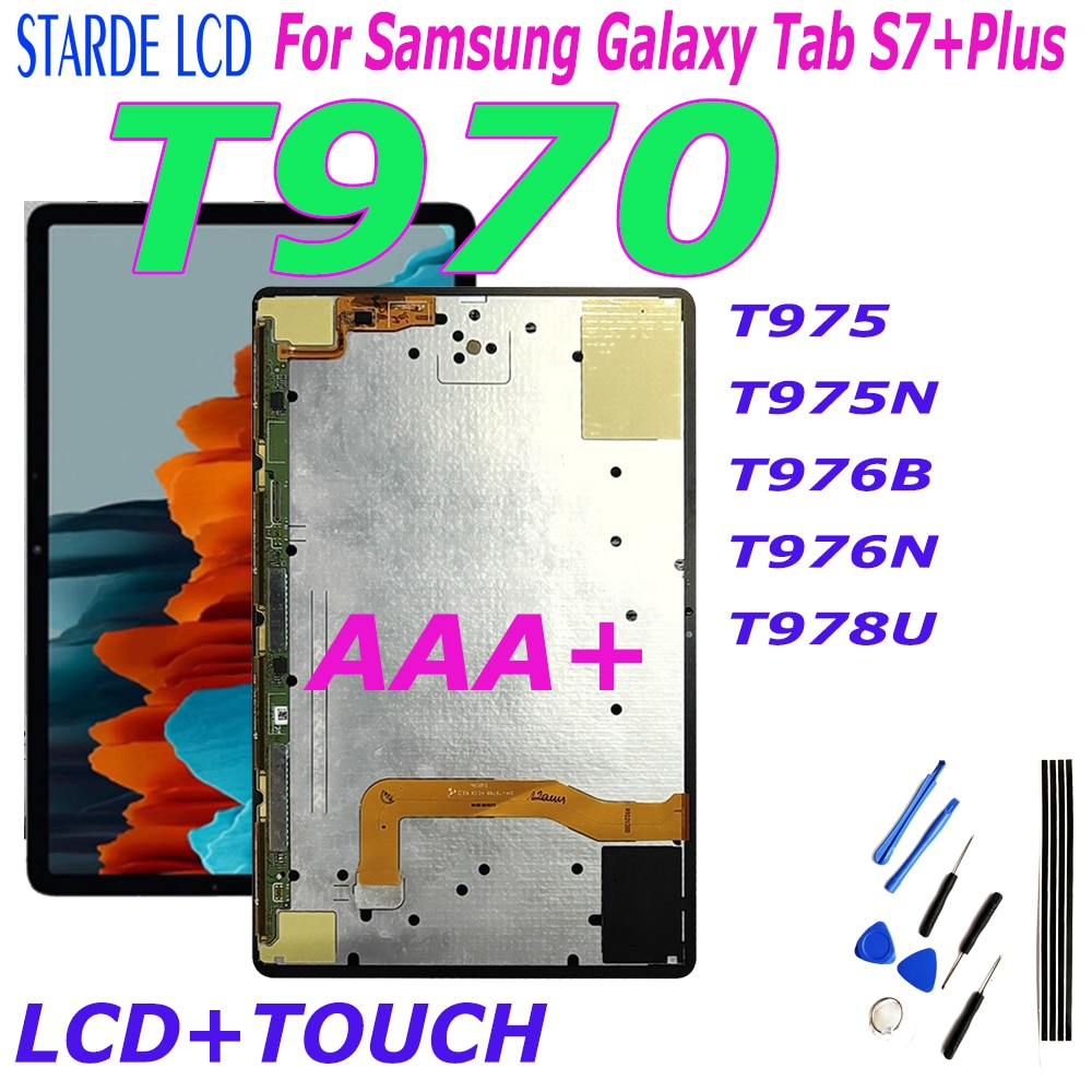 12.4 For Samsung Galaxy Tab S7 Plus S7+ T970 T975 T975N T976B T976N T978U LCD Display Touch Screen Digitizer Assembly T976 T978