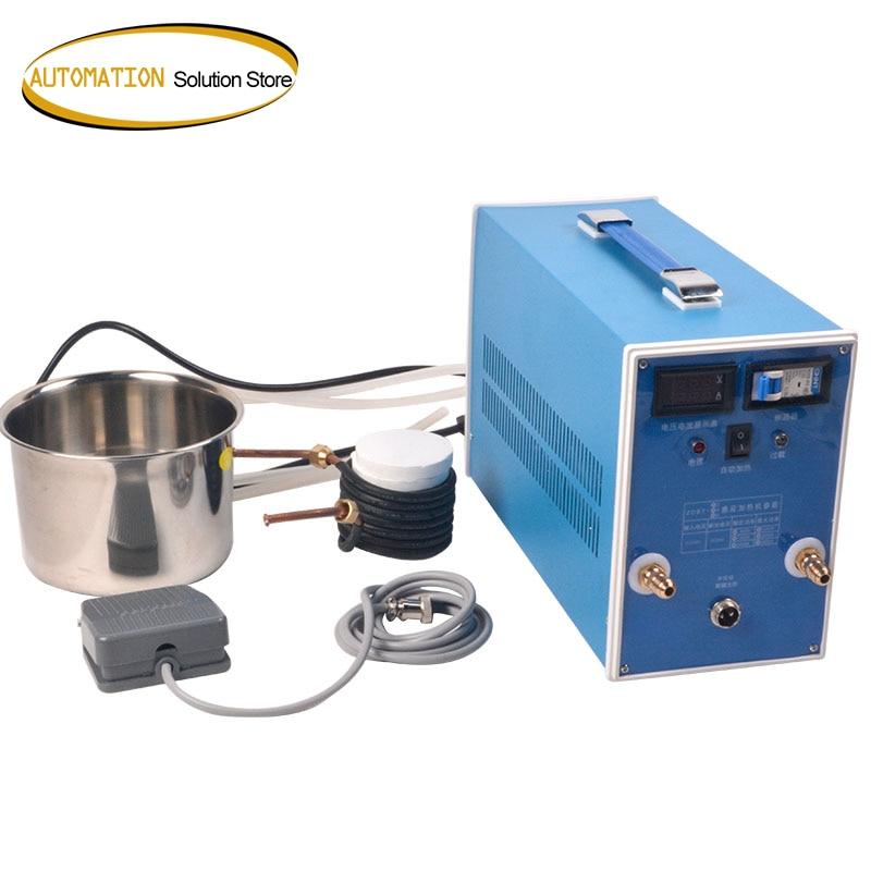 ZVS-آلة تسخين بالحث عالي التردد ، منخفضة الجهد ، فرن صهر المعادن ، معدات تبريد المعادن عالية التردد