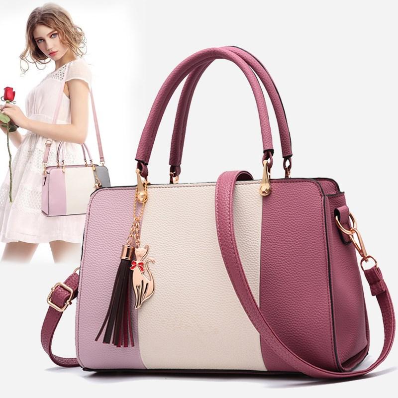 2020 diseñador de la marca de lujo de las mujeres de la moda empalme bolsas de mensajero de hombro señoras de cuero de la PU de bolsas de mano de las chicas de compras bolsas