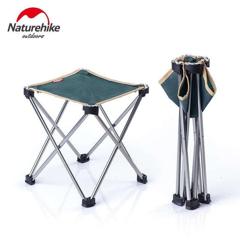 Mini taburete plegable portátil Naturehike NH17Z012-L, asiento plegable para silla, descanso rápido para pesca, Camping, senderismo, Picnic, jardín, barbacoa