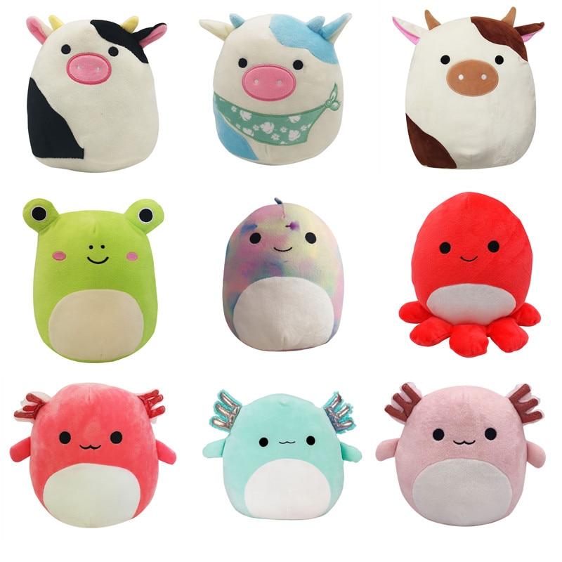 Мягкая плюшевая игрушка 20 см, кавайная корова, динозавр, лягушка, мягкие игрушки для детей, мягкая подушка, подарок для детей